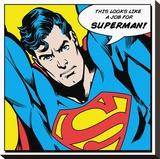 Superman-Quote Opspændt lærredstryk