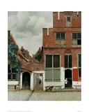 Street in Delft ジクレープリント : ヨハネス・フェルメール