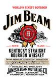 Jim Bean Plaque en métal