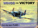 Wings for Victory - Spitfire Tin Sign by Kevin Walsh