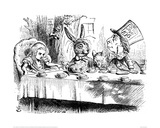 The Mad Hatter's Tea Party Giclee-trykk av John Tenniel