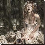 Vampire Girl Toile tendue sur châssis par Victoria Frances