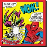 Spider-Man-Red Reproducción de lámina sobre lienzo