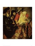 At the Procuress Lámina giclée por Johannes Vermeer