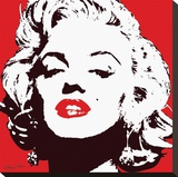 Marilyn Monroe-Red Trykk på strukket lerret
