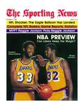 Los Angeles Lakers Magic Johnson and Kareem Abdul-Jabbar - October 11, 1980 Foto
