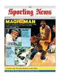 Los Angeles Lakers' Magic Johnson - April 27, 1987 Photographie