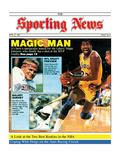 Los Angeles Lakers' Magic Johnson - April 27, 1987 Foto