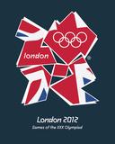 London 2012 Olympische Spelen (Vlag Verenigd Koninkrijk) Poster