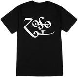Jimmy Page - White Zoso Logo T-skjorte