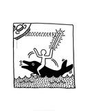 Untitled, 1982 Giclée-tryk af Keith Haring