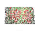 Zonder titel, 1981, gecombineerde afbeeldingen van o.a. vliegtuigen Gicléedruk van Keith Haring