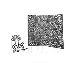 Untitled, 1982 Stampa giclée di Keith Haring