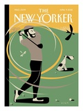 A Whiff of Cool Air - The New Yorker Cover, April 9, 2012 Giclée-Druck von Frank Viva