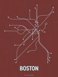Boston (Maroon & Pale Blue) Serigrafia tekijänä  LinePosters