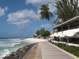 Hastings Beach Boardwalk, Barbados, Windward Islands, West Indies, Caribbean, Central America Reproduction photographique par Michael DeFreitas