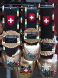 Cowbell Souvenirs in Zermatt, Switzerland, Europe Photographic Print by Michael DeFreitas