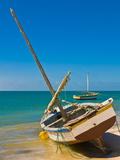 Traditional Sailing Boats in the Banc D'Arguin, Mauritania, Africa Fotografisk trykk av Michael Runkel