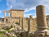Basilica and Temple Des Septimes at the Roman Ruins of Djemila, Algeria, North Africa, Africa Photographic Print by Michael Runkel