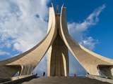 The Martyrs Monument, Algiers, Algeria, North Africa, Africa Fotografisk tryk af Michael Runkel
