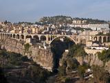 Pont De Sidi Rached Bridge, Constantine, Eastern Algeria, Algeria, North Africa, Africa Fotografisk tryk af Michael Runkel