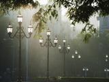 Street Lamps, Buenos Aires, Argentina, South America Lámina fotográfica por Christian Kober
