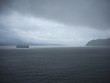 A Ferry Boat Moves Through Stormy Weather From Vashon Island to West Seattle. Washington State, USA Photographic Print by Aaron McCoy