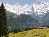 Jungfrau Massif From Murren, Jungfrau Region, Switzerland, Europe Reproduction photographique par Michael DeFreitas
