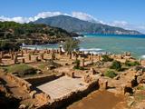 Roman Ruins of Tipasa, on the Algerian Coast, Algeria, North Africa, Africa Fotografie-Druck von Michael Runkel