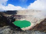 Crater Lake of Volcan Santa Ana, 2365M, Parque Nacional Los Volcanes, El Salvador, Central America Fotografisk trykk av Christian Kober