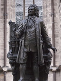 Statue of Bach, Leipzig, Saxony, Germany, Europe Photographic Print by Michael Snell