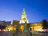 Old Town City Wall and Puerto Del Reloj at Night, UNESCO World Heritage Site, Cartagena, Colombia Photographic Print by Christian Kober