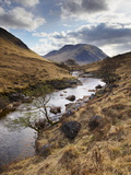 Glen Etive, Near Glen Coe (Glencoe), Highland Region, Scotland, United Kingdom, Europe Reproduction photographique par Patrick Dieudonne