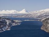 Rombakfjord From Ofoten Railway, Narvik, Nordland, Norway, Scandinavia, Europe Impressão fotográfica por Rolf Richardson