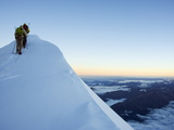 Summit Ridge of Mont Blanc, 4810M, Chamonix, French Alps, France, Europe Photographic Print by Christian Kober