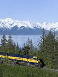 Alaska Railroad nahe Girdwood, Alaska, Vereinigte Staaten von Amerika, Nordamerika Fotografie-Druck
