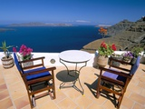 Fira, Island of Santorini (Thira), Cyclades Islands, Aegean, Greek Islands, Greece, Europe Lámina fotográfica por Sergio Pitamitz