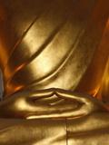 Detail of Mudra, Buddha Statue, Paris, France, Europe Photographic Print