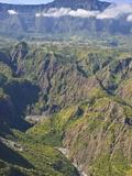 The Crater of Cilaos, La Reunion, Indian Ocean, Africa Impressão fotográfica