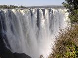 Main Falls, Victoria Falls, UNESCO World Heritage Site, Zimbabwe, Africa Fotografisk tryk