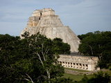 The Pyramid of the Magician, Uxmal, UNESCO World Heritage Site, Yucatan, Mexico, North America Photographic Print by Balan Madhavan