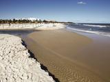 Beach Scene in the Tourist Zone on the Mediterranean Sea, Sousse, Gulf of Hammamet, Tunisia Stampa fotografica di Dallas & John Heaton