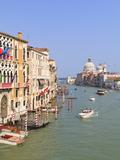 The Grand Canal and the Domed Santa Maria Della Salute, Venice, Veneto, Italy Photographic Print by Amanda Hall