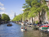 Prinsengracht Canal, Amsterdam, Netherlands, Europe Photographic Print by Amanda Hall