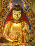 Shakyamuni Buddha Statue in Main Hall, Po Lin Monastery, Tung Chung, Hong Kong, China, Asia Fotografie-Druck