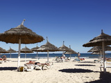 Beach Scene in the Tourist Zone of Sousse, Gulf of Hammamet, Tunisia, North Africa, Africa Photographic Print by Dallas & John Heaton