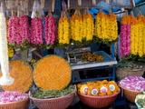 Flower Shop, Chalai, Trivandrum, Kerala, India, Asia Impressão fotográfica