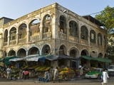 Old Destroyed Italian Colonial Building, Djibouti, Republic of Djibouti, Africa Fotografisk tryk