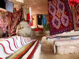 Display of Local Cloths and Carpets, Mides Oasis, Tunisia, North Africa, Africa Photographic Print by Dallas & John Heaton