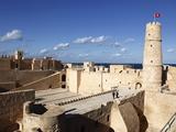 Ribat (Fortress) on Mediterranean Coast, Monastir, Tunisia, North Africa, Africa Stampa fotografica di Dallas & John Heaton